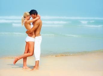 beach-sand-sea-waves-surf-couple-girl-boy-smile-joy-swimsuit-summer